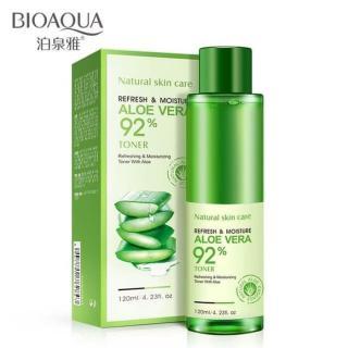 Bioaqua Aloe Vera 92% Toner Refreshing & Moisturizing Toner Essence - 120ml thumbnail