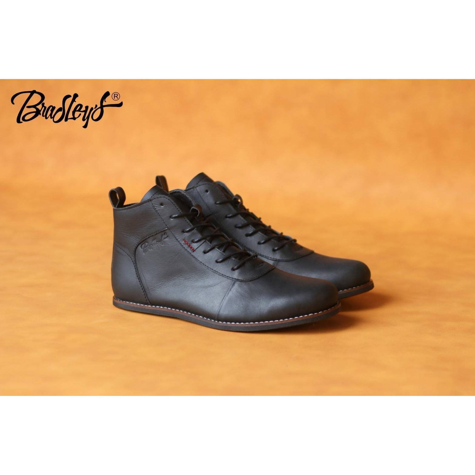 Sepatu Bradley's Erudite Gaya Kulit Asli Pria Original (Brodo)