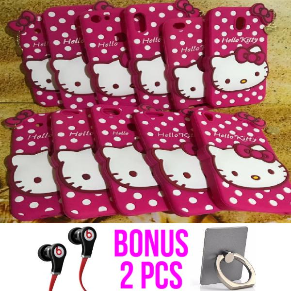 CASE 3D FOR VIVO V7 / 3D CASE CUTE HELLO KITTY POLKADOT HD FREE Beats By Dr Dre Ear Earphones Handsfree + Iring