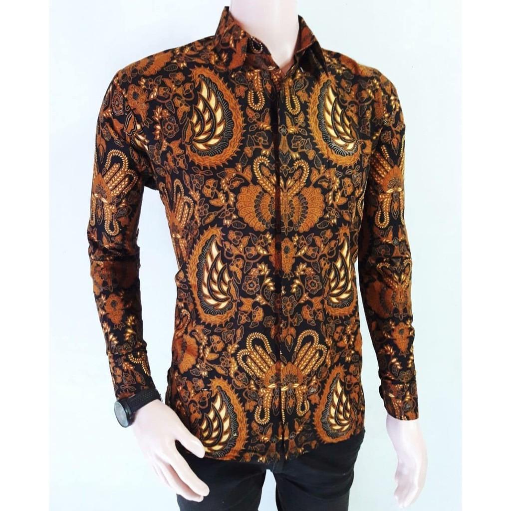 Inilah Harga Baju Batik Seragam Murah Terbaru 2018 Kemeja Kerja Kombinasi Pria Fashion Lengan Panjang Motif Sogan Garuda Modern Toko