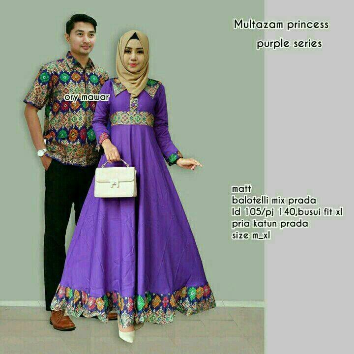 Batik Couple / Batik Sarimbit / Batik Kondangan Multazam Princess-Ungu
