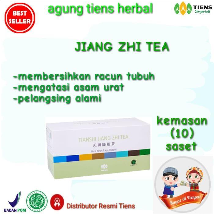 TERBUKTI Tiens Jiang Zhi Tea - Teh Hijau Pelangsing Herbal/alami/promo 10 saset