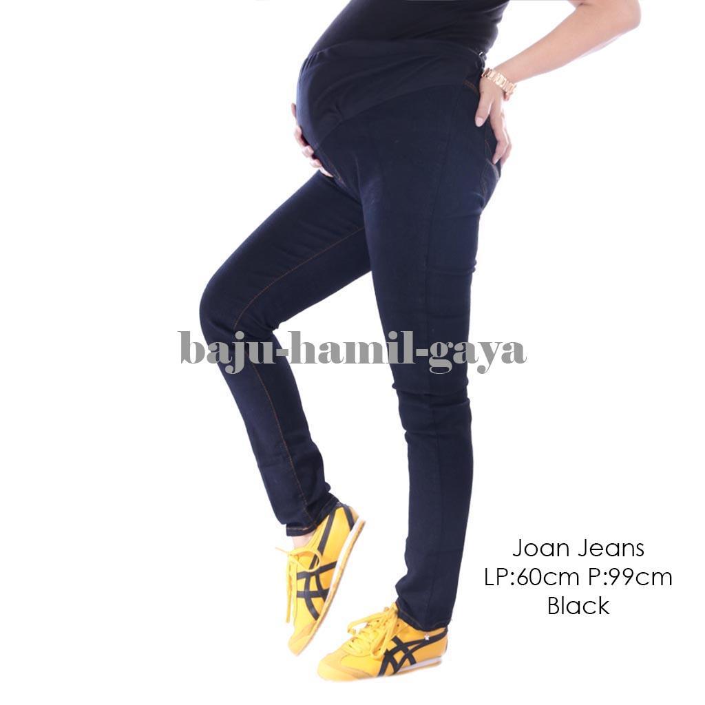 Baju Hamil Gaya Jeans Hamil - JOAN JEANS BLACK - Maternity / Celana Hamil / Celana Hamil Jeans / Celana ibu Hamil / Celana Hamil Kerja / Celana Panjang Hamil / Celana Jeans Hami / Baju Hamil Murah / Baju Hamil Modern / Baju Hamil Harga Murah