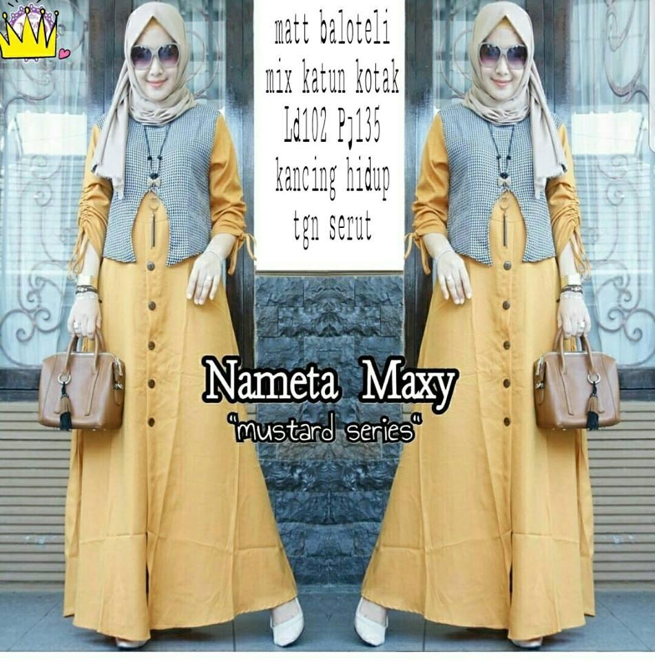Honeyclothing Dress Wanita Nimita  / Longdress Murah / Maxi Dress / Gamis Hijabers / Baju Hijaber / Dress Muslimah
