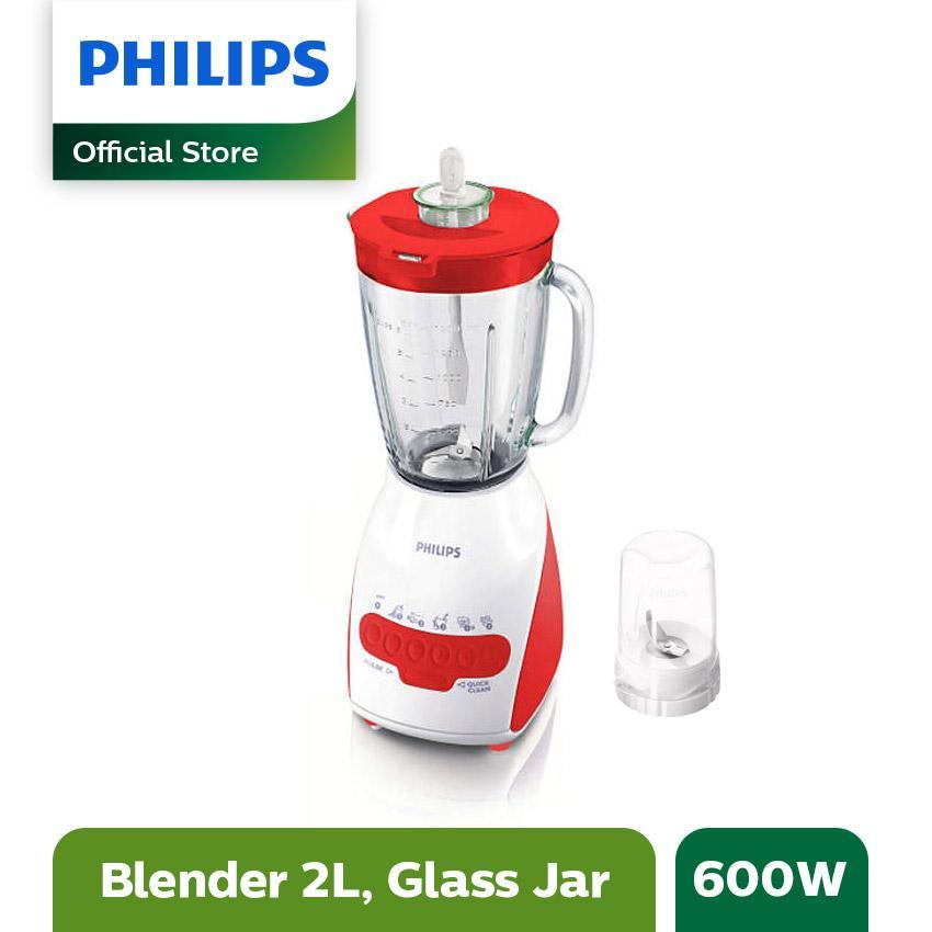 Philips Blender Kaca HR2116/60 - Merah