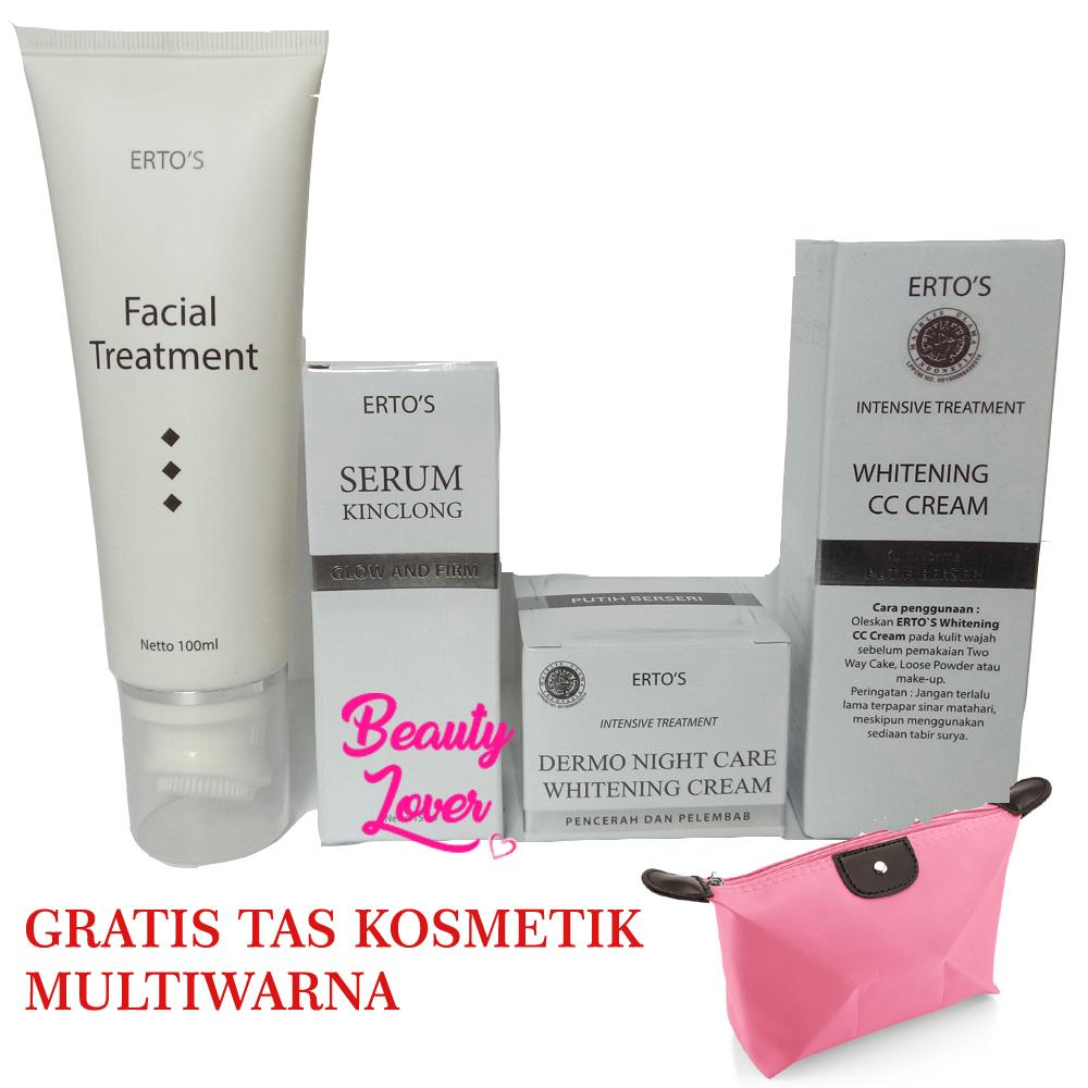 Jual Produk Kecantikan Ertos Baked Powder All In 1 Paket Glowing Cc Cream Night Serum Kinclong Facial Treatment