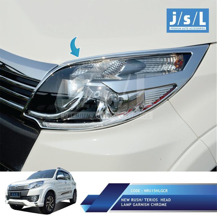 New Rush/Terios Garnish Lampu Depan JSL / Head Lamp Gar