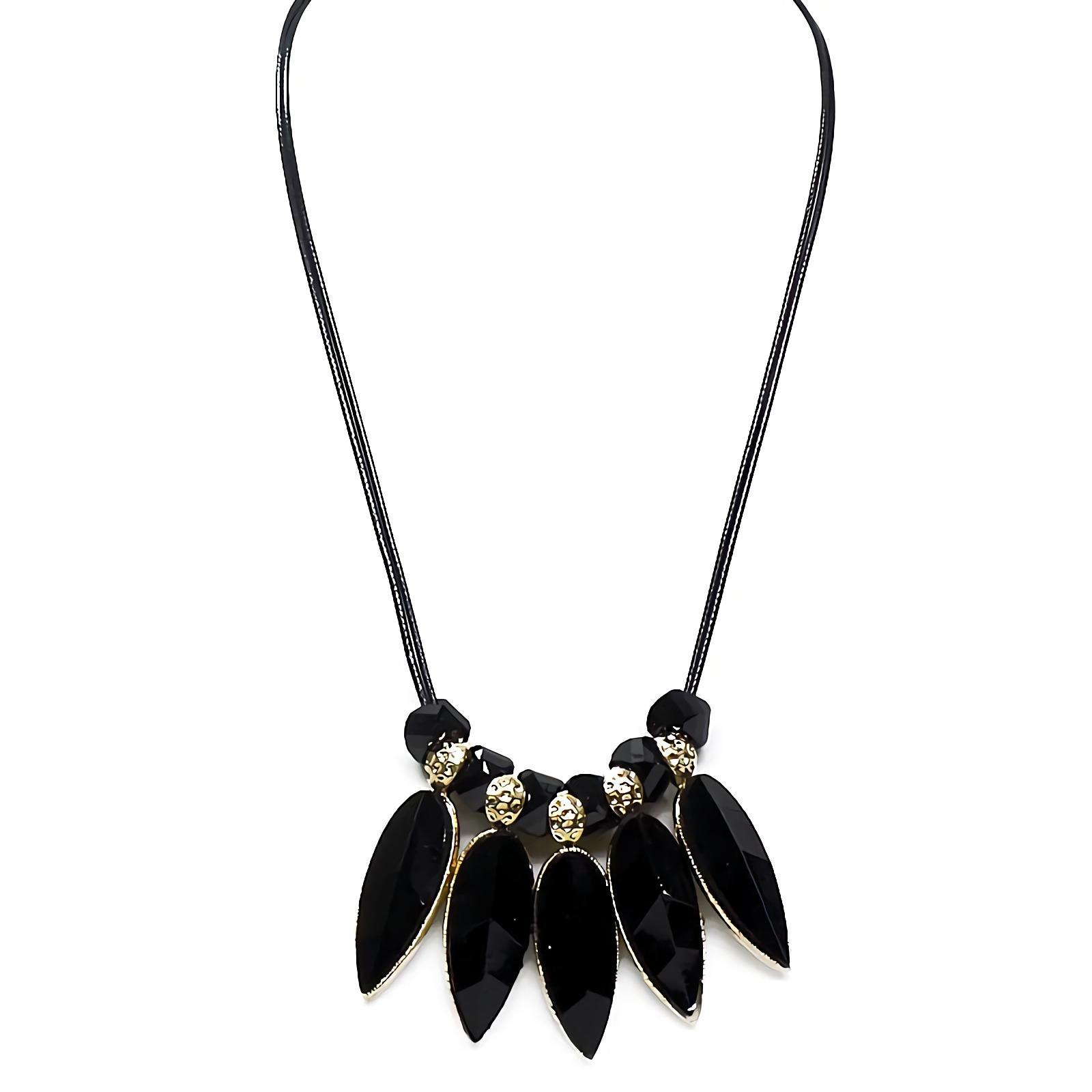 OFASHION Aksesoris Kalung CA-180314-K010 Necklace Fashion Xuping Jewelry Hitam Hitam