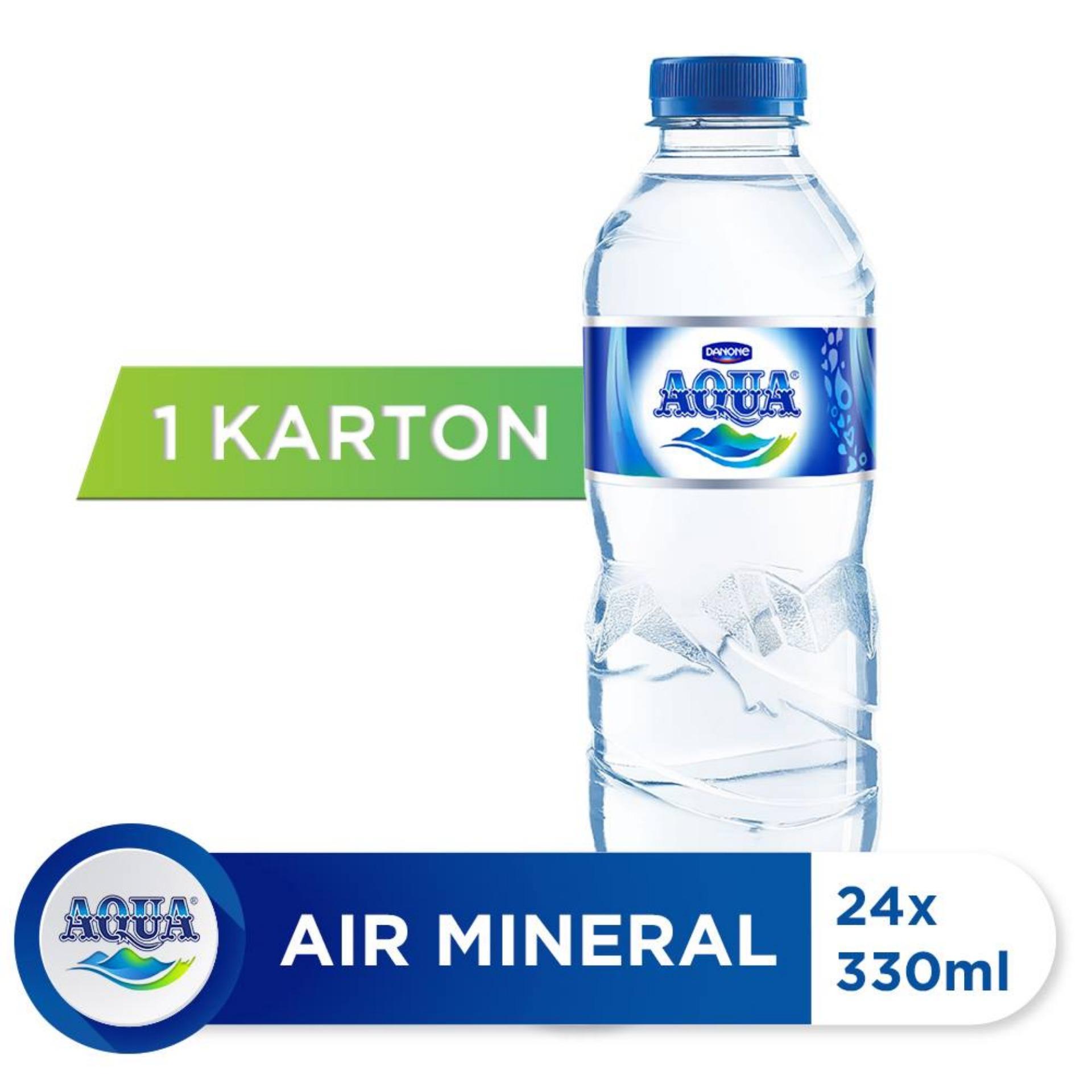 Aqua Air Mineral 330ml (24 Botol) By Danone Waters.
