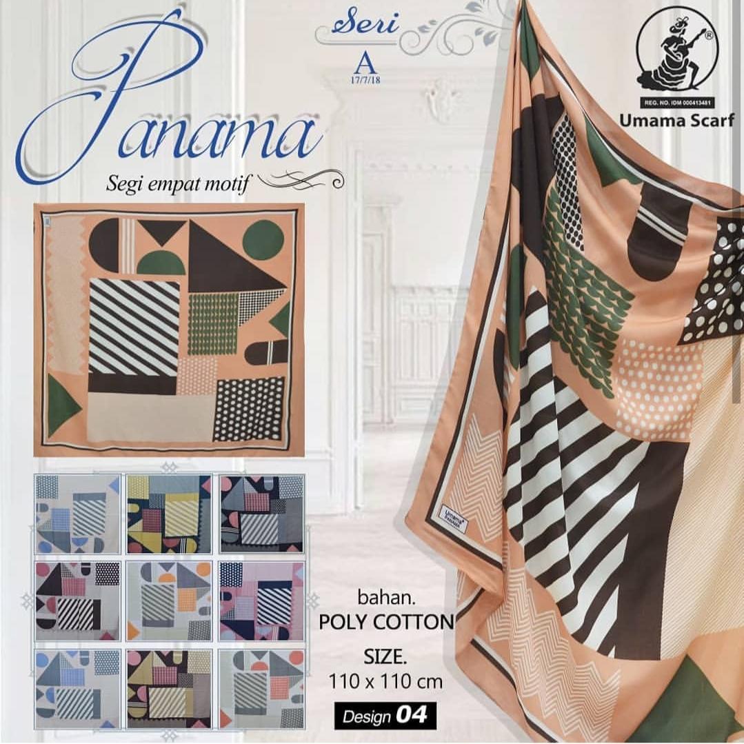 Hijab Segi Empat Motif abstrak type panama / Jilbab Segi Empat Motif / Kerudung Segi Empat Motif /Hijab Segi Empat panama Umama scarf