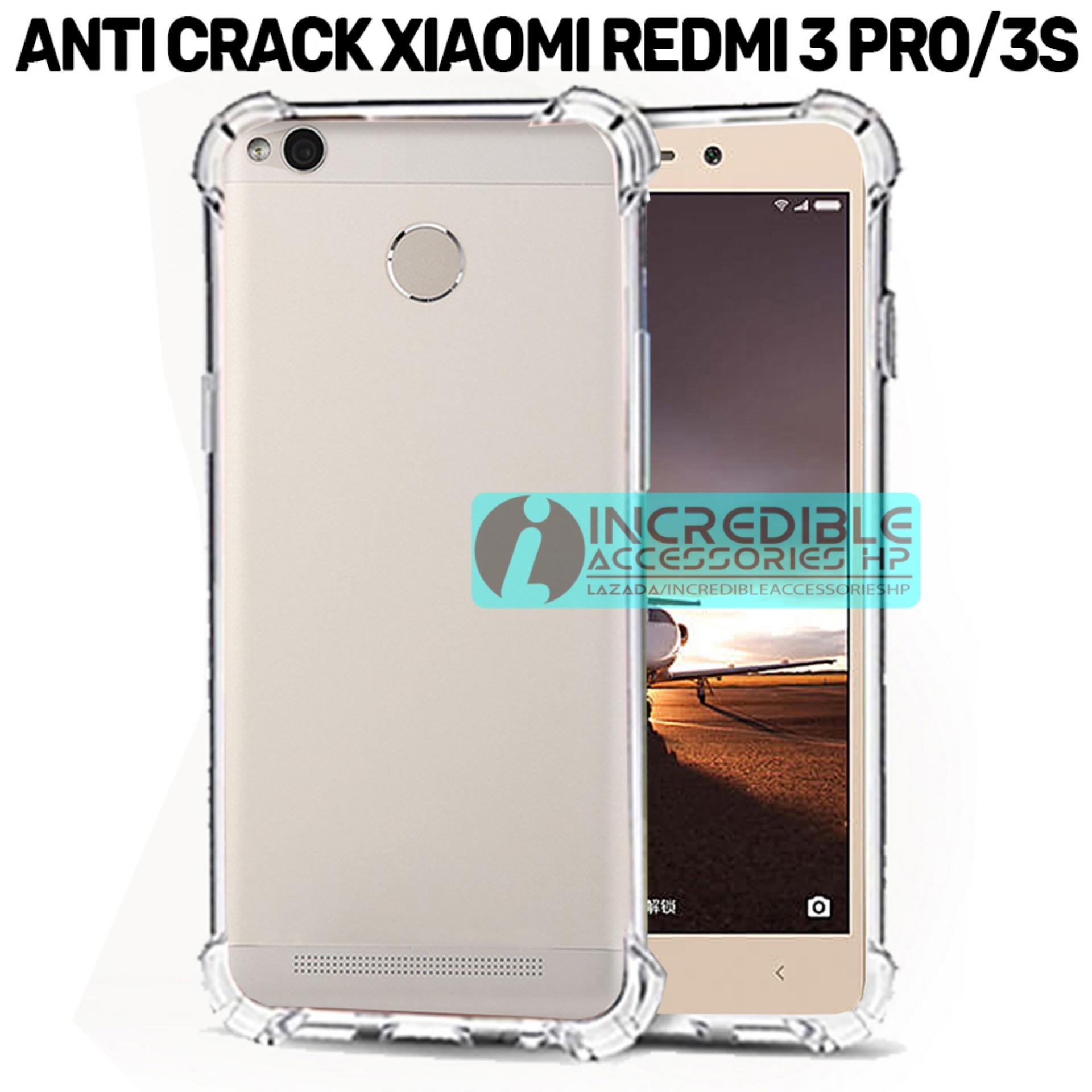 Softcase Silicon Anti Shock / Anti Crack Elegant Softcase  for Xiaomi Redmi 3s Pro - White Clear