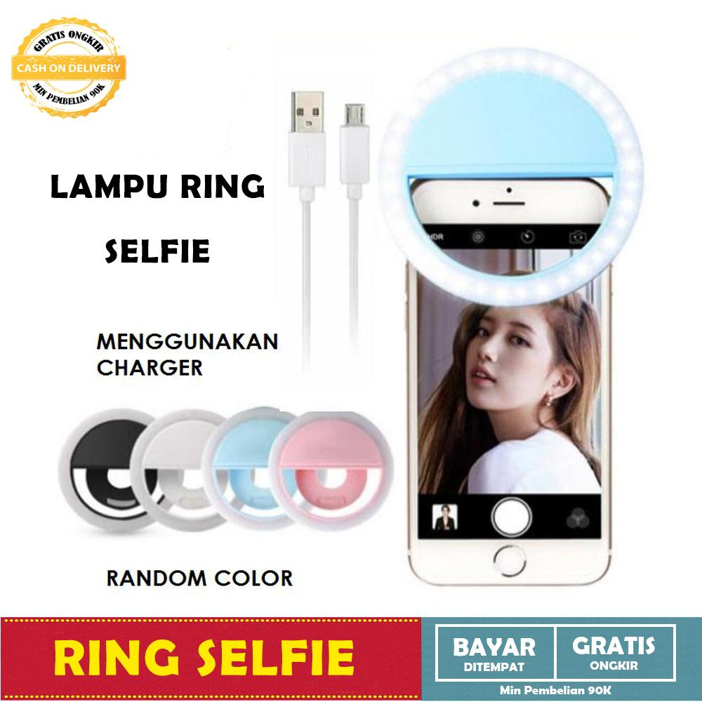 Lampu Selfie Portable Clip Mini 36 Led Lampu Selfie Bulat Ring Lamp Fill In Light Night Lampu Selfie Ring Selfie - 1 Pcs Random By All Item Store.