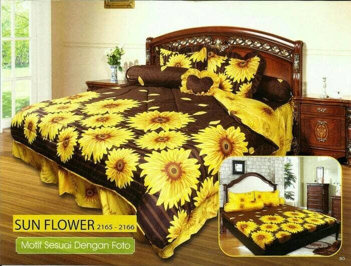 Sprei California Sun Flower No. 2 Queen 160 Seprai Sprai Sepray Bed By Yalstore.
