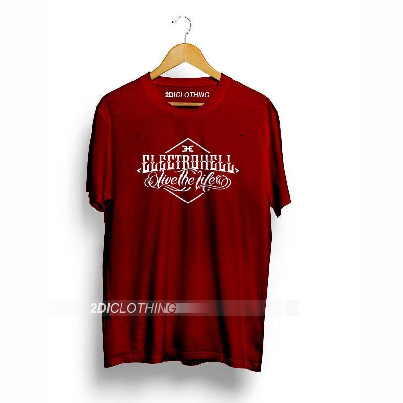 Kaos Electrohell - Tshirt Electrohell  - Maroon