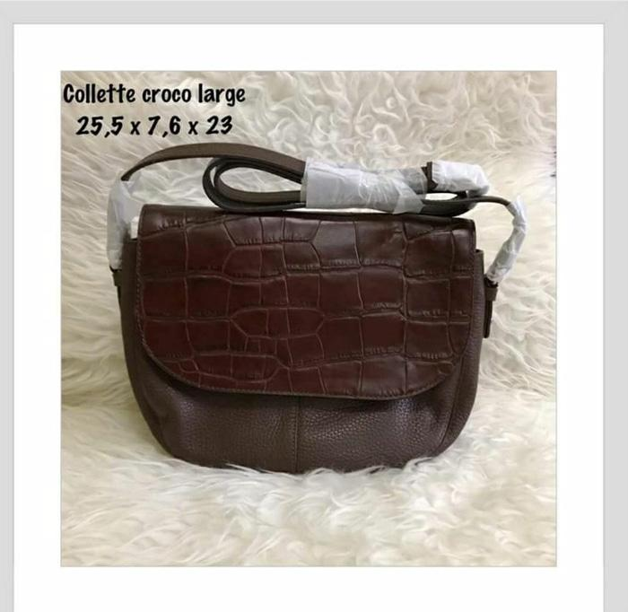 HOT SPESIAL!!! Jual Tas Fossil Collette Croco Brown Large NWT - xdlopx