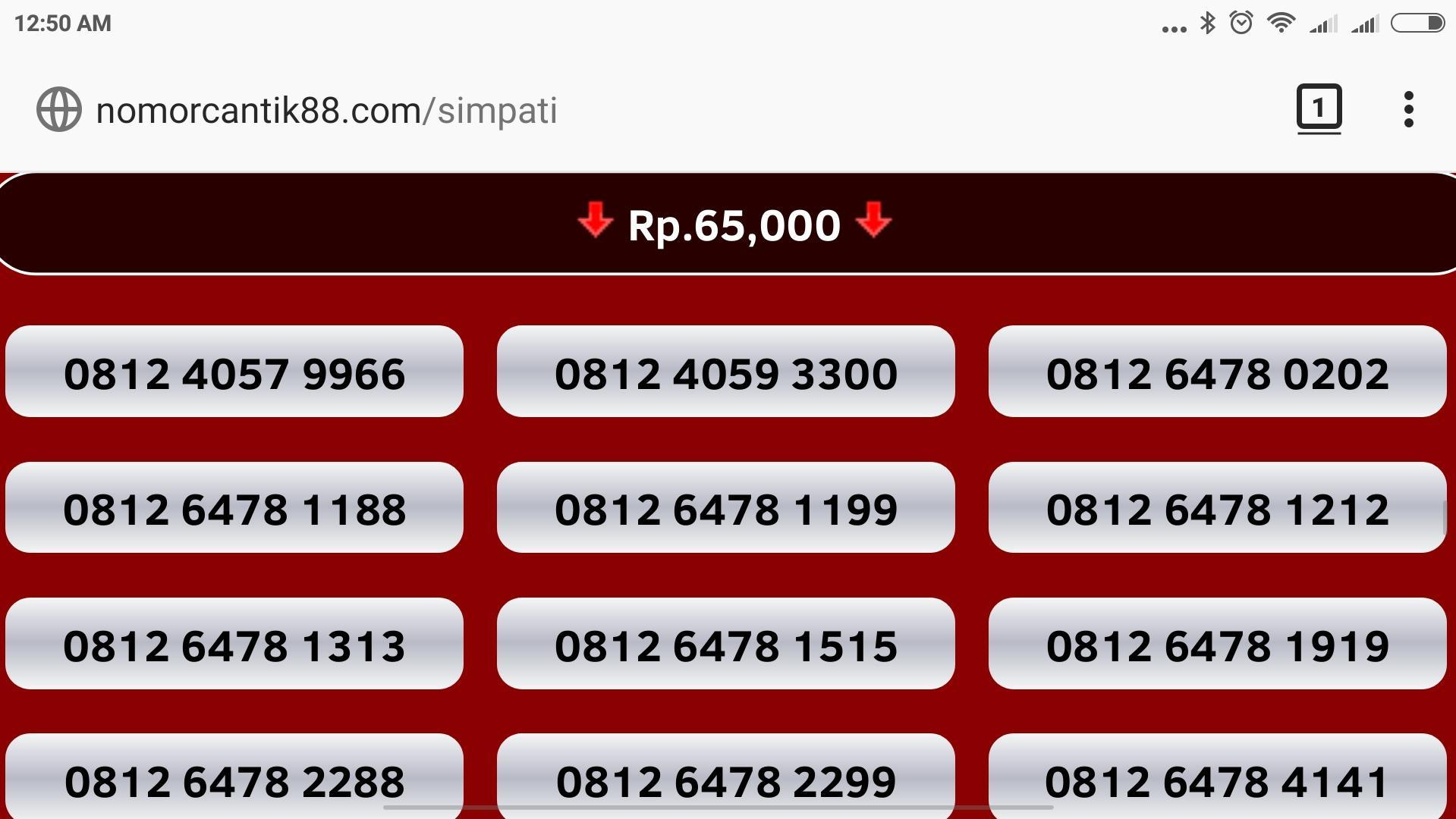 Nomor cantik simpati kartu perdana telkomsel nocan gsm murah 3g 4g nomer hoki prabayar internet nano