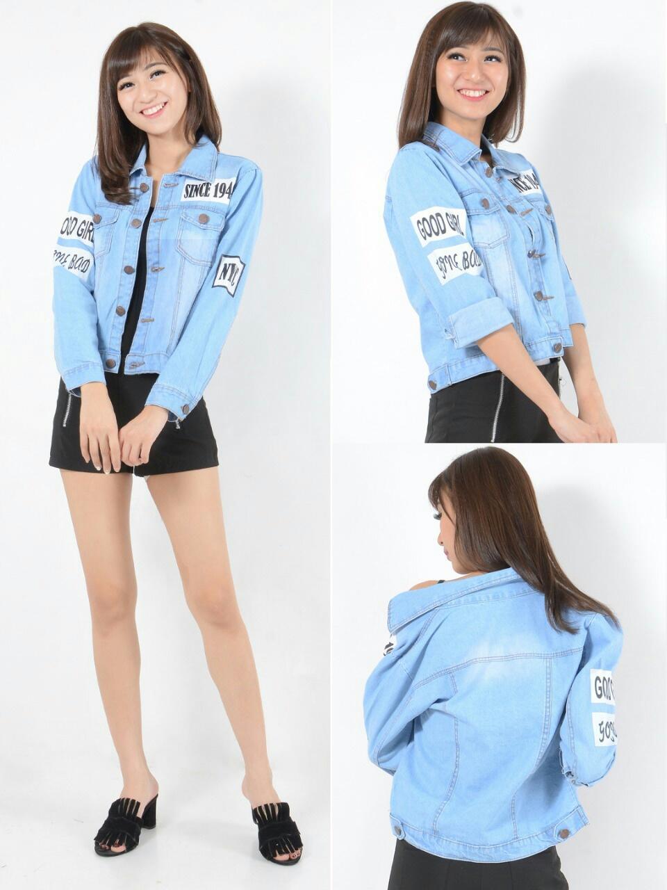 Daftar Harga Jaket Jeans Wanita Import Termurah Terbaru November Cewe Terlaris Denim Fashion Bahan Garmen Washed