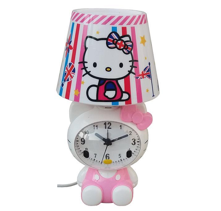 Hello Kitty Karakter Lampu (Jam) Meja MH-9052