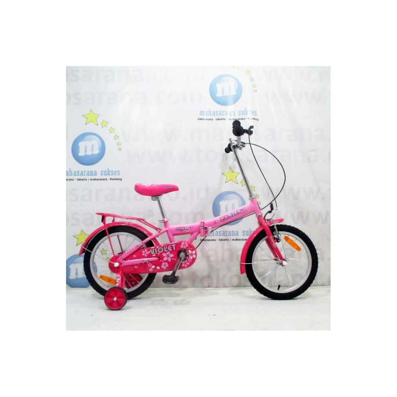 16in Family Violet Sepeda Lipat Anak