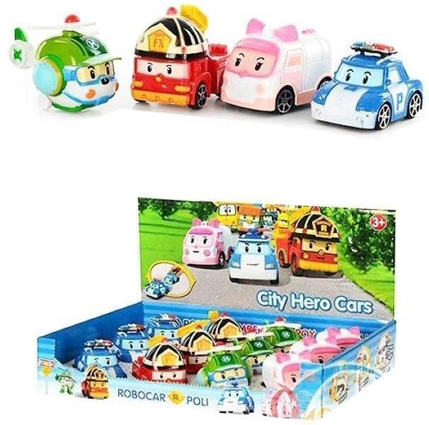 Mainan Mainan Mobil Robocar Poli Isi 4 Ukuran Besar - Kado Anak Murah