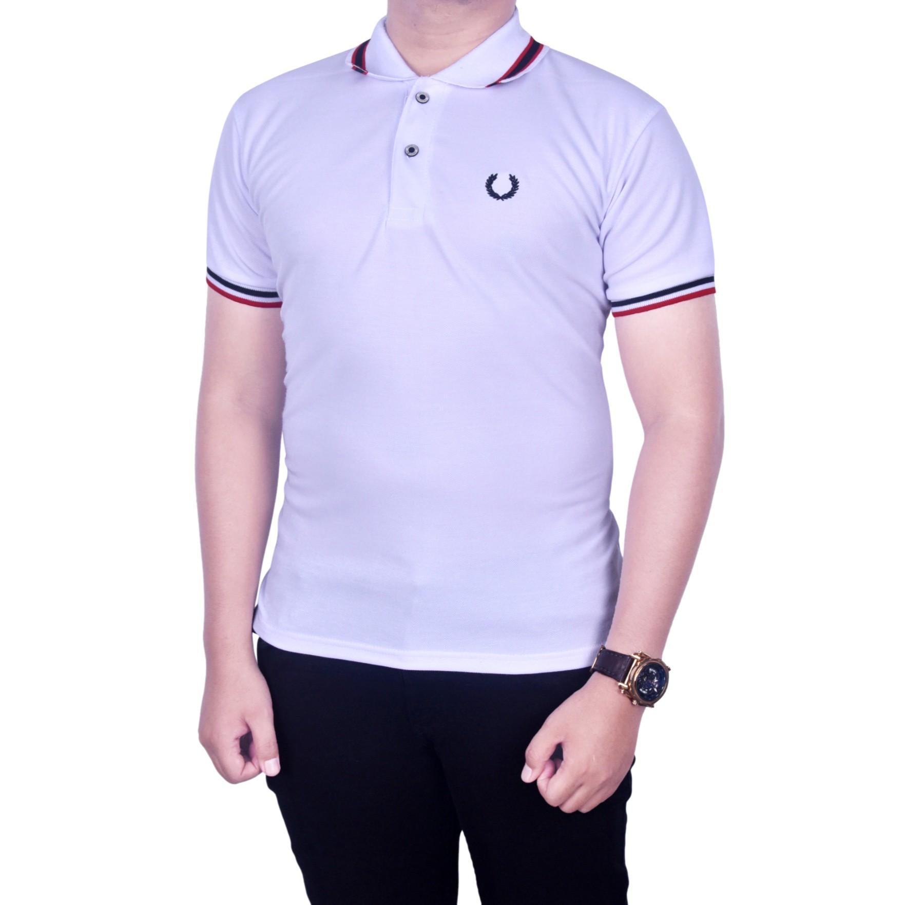 Polo Shirt Pria Terbaru Murah Kaos Kerah Polos  Grosir Bordir Dgm Fashion1 Baju Putih Sanghai
