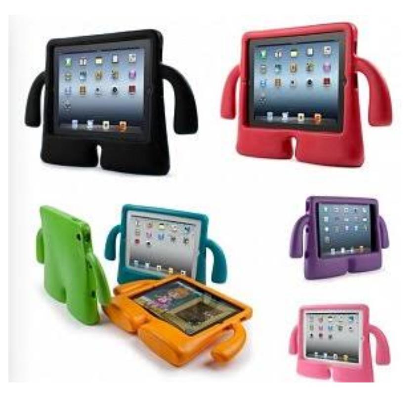 Mouzel Back Cover Soft Case iPad 2 Ibuy Shockproof Kids Handle Soft Casing - Warna RANDOM