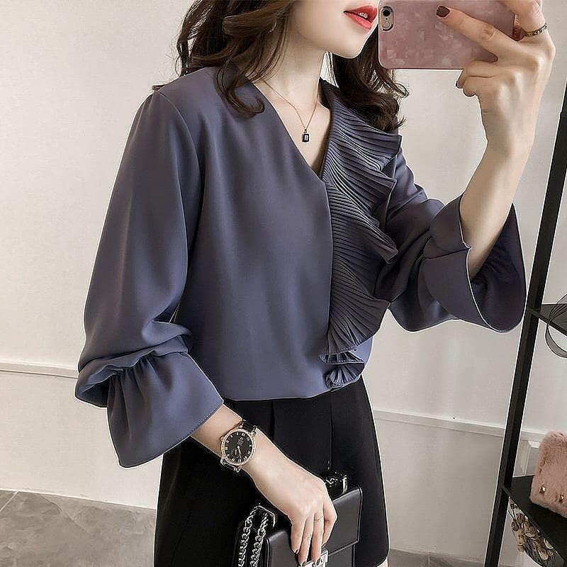 Baju Original Marina Tshirt Wolfice Atasan Wanita Muslim Fashion Terbaru Pakaian Cewek  Lengan Panjang Blouse Top Modern Simple Casual 2018