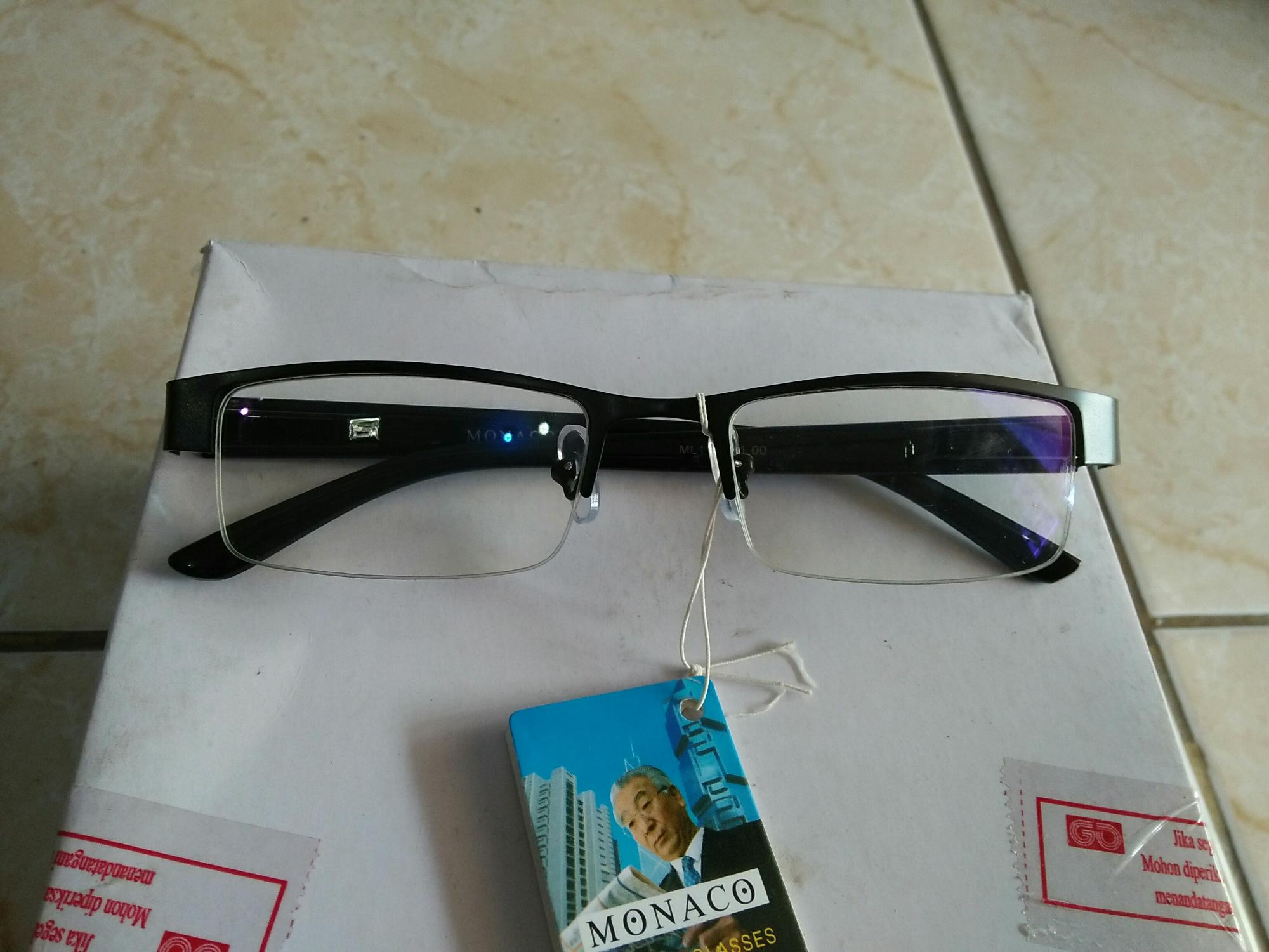 Promo kacamata plus 1.00 murah persegi anti radiasi handphone dan komputer ML112