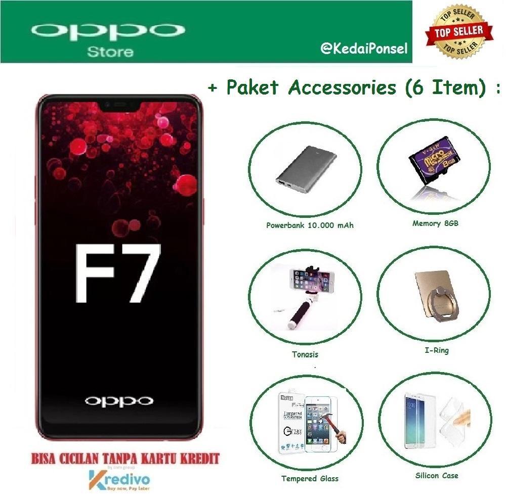 OPPO F7 Pro [6/128GB] + 6 Item Accessories