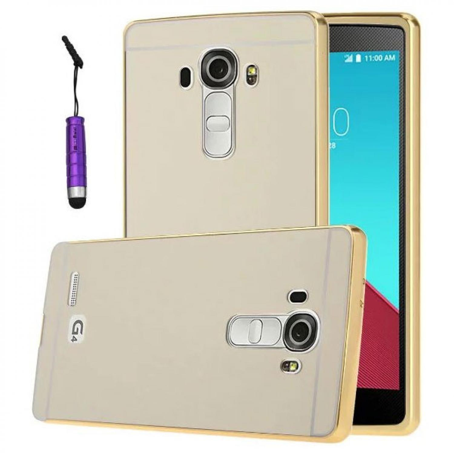 Aluminium Bumper with Mirror Back Cover for LG Casing HP Murah Terbaru