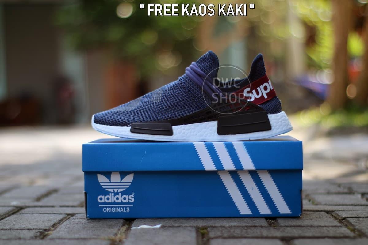 a4a77fe121532 Terlaris SEPATU CASUAL PRIA Sneakers Branded X SUPREME NMD FULL WHITE  TERMURAH Paling Laku