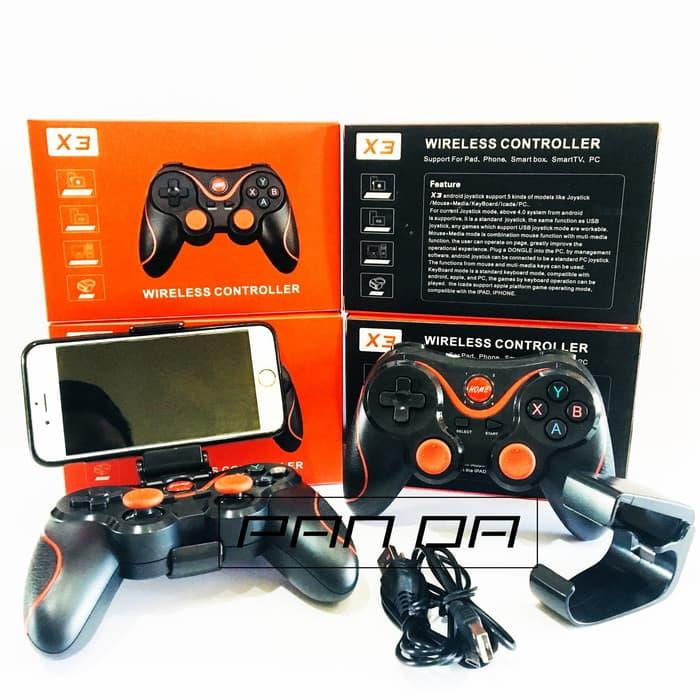 X3 Joystick Gamepad Bluetooth Wireless Smartphone Free Holder HP (JOYSTICK GAMEPAD BLUETOOTH WIRELESS SMARTPHONE MURAH BERKUALITAS) JOYSTICK GAMEPAD BLUETOOTH WIRELESS SMARTPHONE GAMING MURAH BERKUALITAS