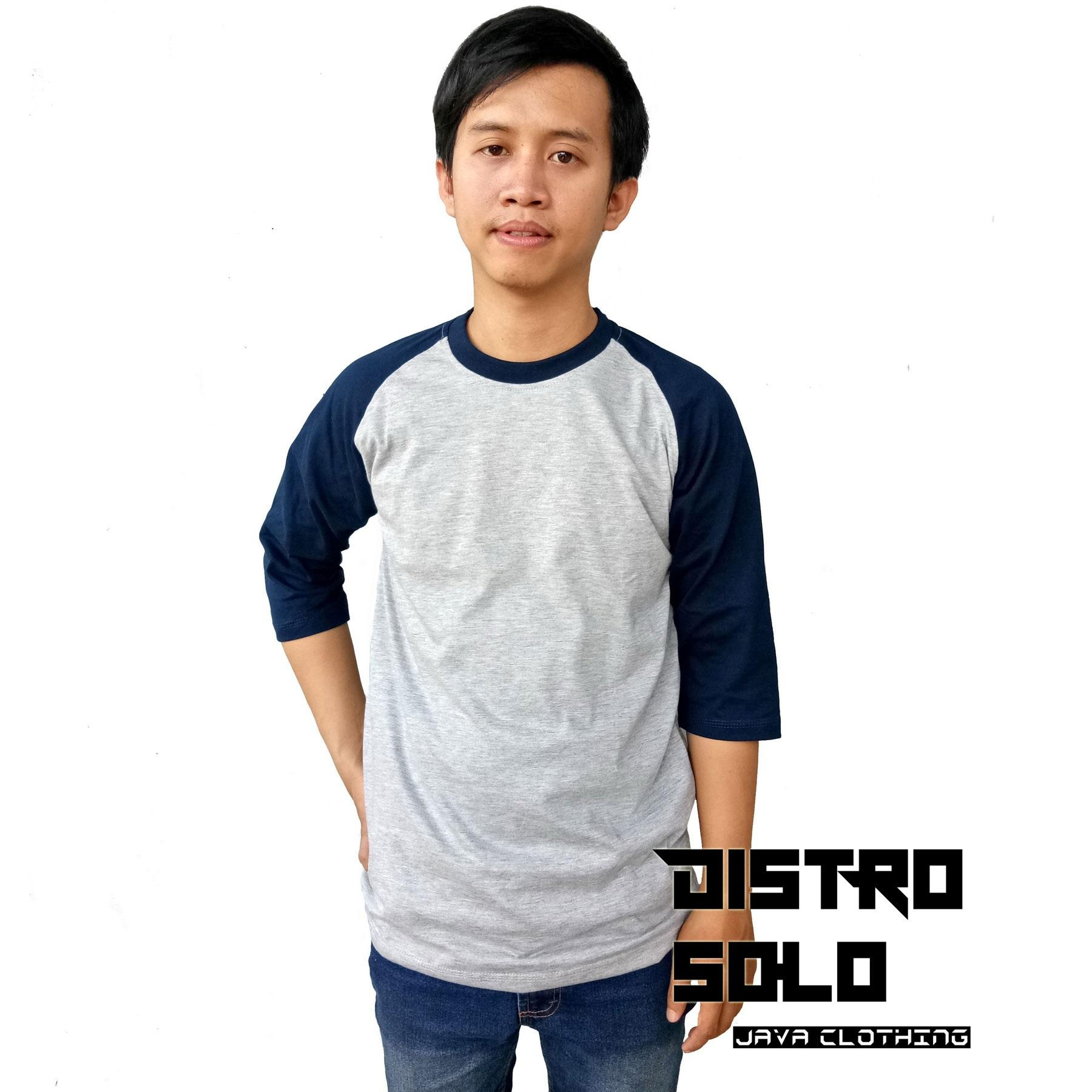 Buy Sell Cheapest Terlaris Kaos Solo Best Quality Product Deals 1 Tshirt Raglan Distro Polos Reglan Pria 3