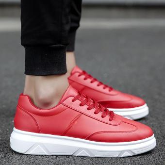 Pencarian Termurah 2018 model baru musim dingin sepatu pria sepatu trendi Gaya  Korea Tren casual sepatu olahraga netral sepatu putih kecil penambah Tinggi  ... a88b3779ef