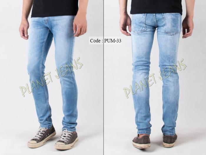 PROMO !! Celana jeans panjang pria skinny / pensil cowok bahan stretch / karet