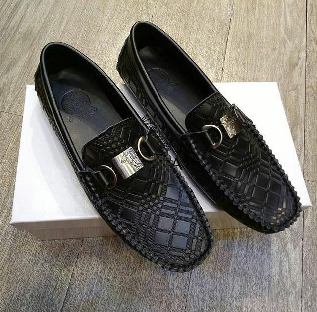 HOT SPESIAL!!! Sepatu Versace/Sepatu Loafers Pria/Sepatu Kantor/Sepatu Kulit Pria