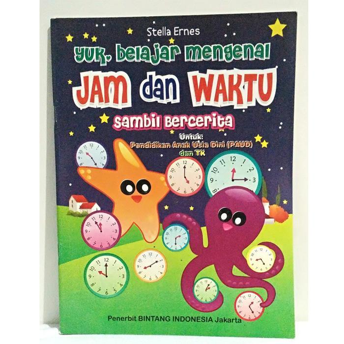 Buku Aktifitas / Buku Belajar Mengenal Jam Dan Waktu By Edantoys.