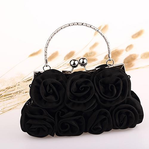 Broadfashion Wanita Fashion Rose Flower pola Clutch Bag malam pesta pengantin tas