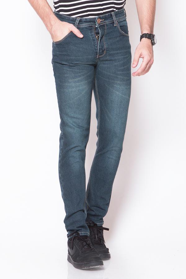 2nd Red Celana Jeans Pria Premium Slim Fit Strecth Koleksi Baru - Eksis Collection -59-60-62-63