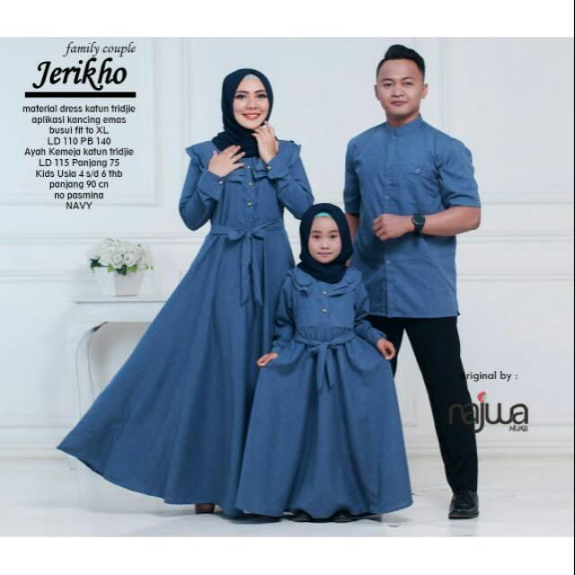 Gamis Jeriko cauple set ayah ibu kids by ori najwa ()