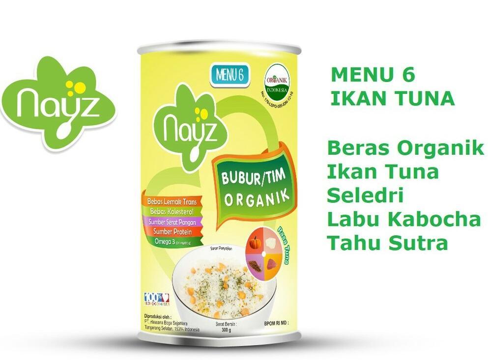 Arsyad Babyshop - Nayz Bubur Organik Menu 6 Rasa Tuna (kaleng) - Bubur Bayi Organik Makanan Pendamping Asi By Arsyad Babyshop.