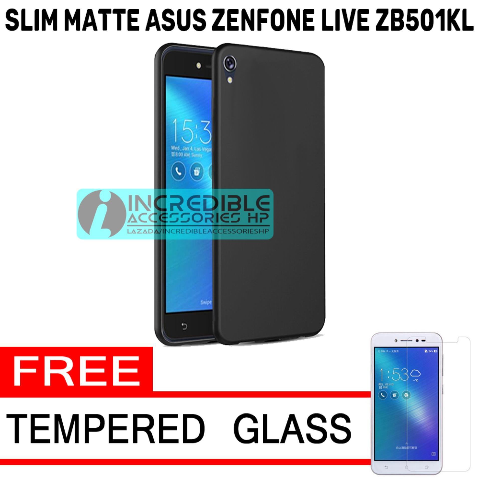 Case Slim Black Matte Baby Skin Softcase Premium Matte for Asus Zenfone Live ZB501KL - Black + Free