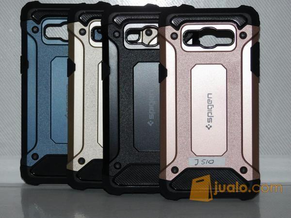 Spigen Iron For Samsung Galaxy J1 Ace Air Cushion Tecknologi Soft Back Cover_Akio_Shop_