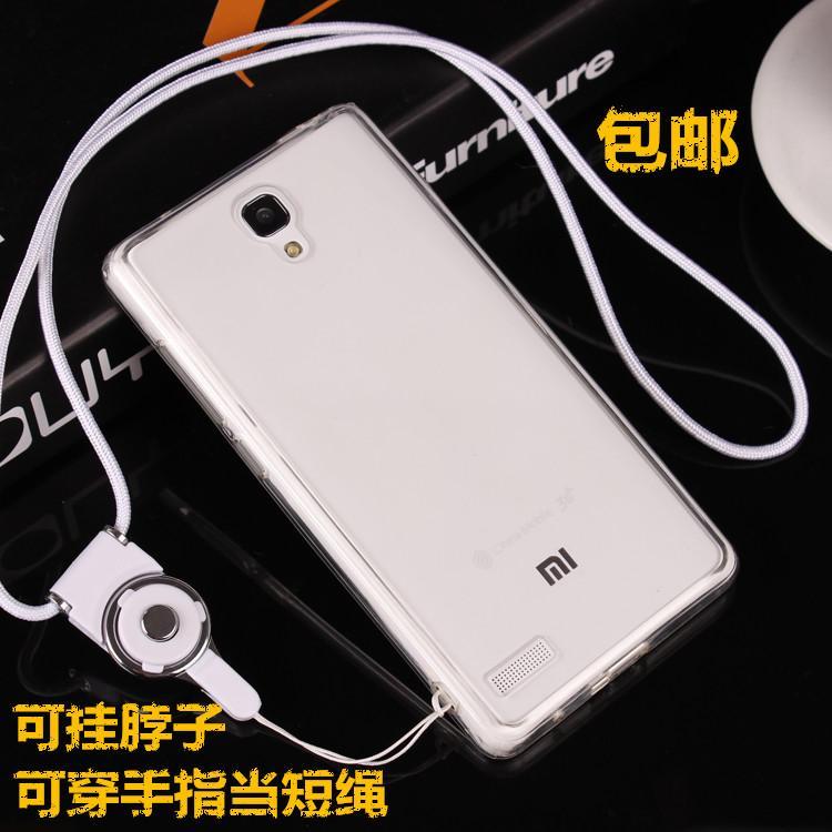 Xiaomi 4 Casing HP gantung di leher Redmi note1 pelindung casing silikon dengan tali gantung Meter 3 soft Chasing luar minimalis perempuan