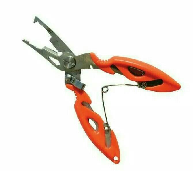 Gunting Pancing Serbaguna Split Ring Stainless Steel Fishing Pliers