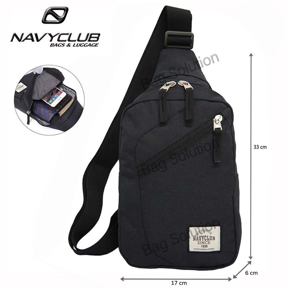 Navy Club Tas Selempang Travel - Tas Punggung Tas Dada Tahan Air - Sling Bag Tas Pria Tas Wanita 5032 - Hitam