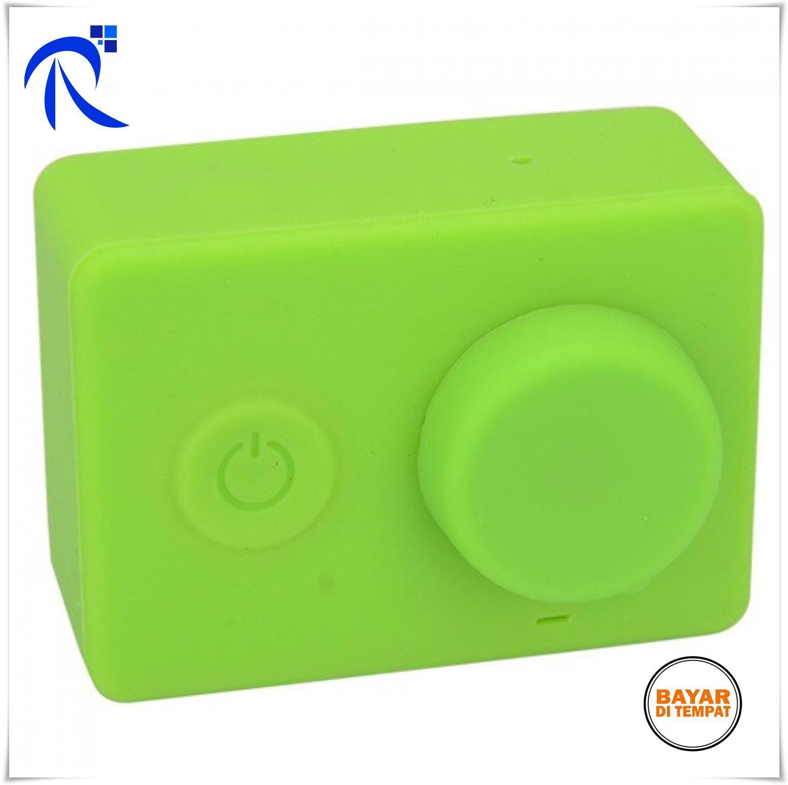 Rimas Silicon Case & Lens Cap untuk Xiaomi Yi - Black / Hitam - Hijau / Green - Casing Cover Silikon Pelindung Camera Kamera Action Berkualitas FREE ONGKIR