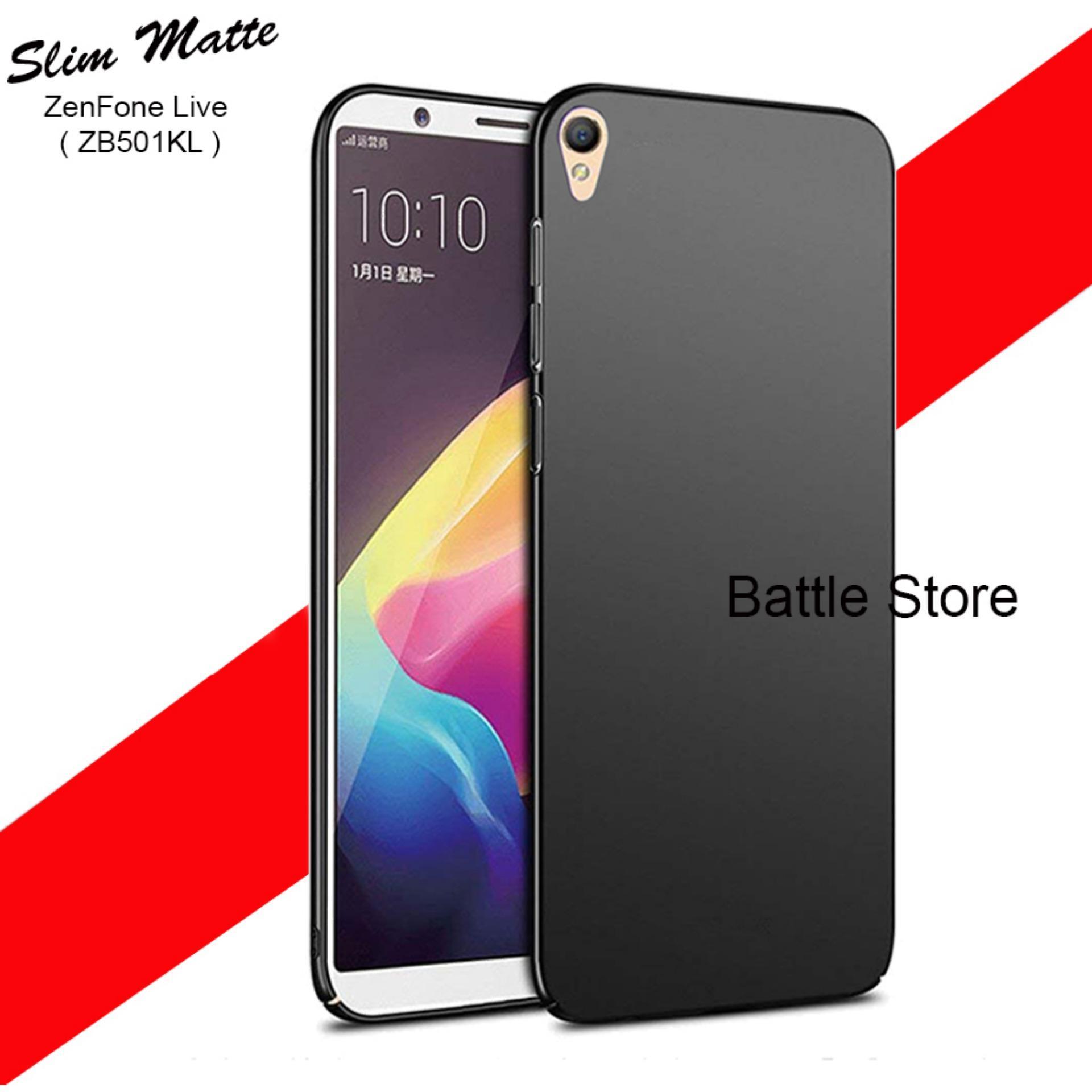 Case Slim Black Matte Asus ZenFone Live ( ZB501KL ) Baby Skin Softcase Ultra Thin Jelly Silikon Bab