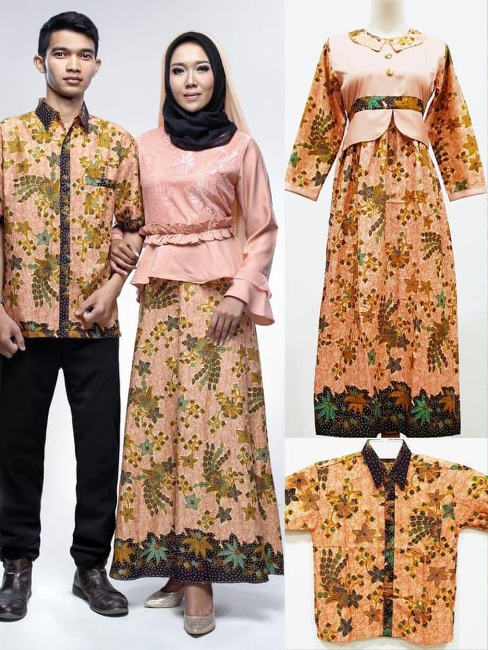 Sarimbit Keluarga Gamis Syari Muslimah Long Dress Batik 2284 XL