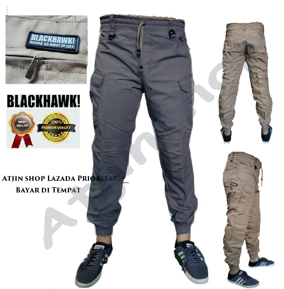Celana Cargo Pria Model Terbaru Blackhawk Camo Tactical Series Full Katun Tjincollection Joger Panjang Pdl Kargo Long Pants Krem Abu